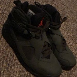 Jordan Shoes - Green/black/fire orange Jordan 8
